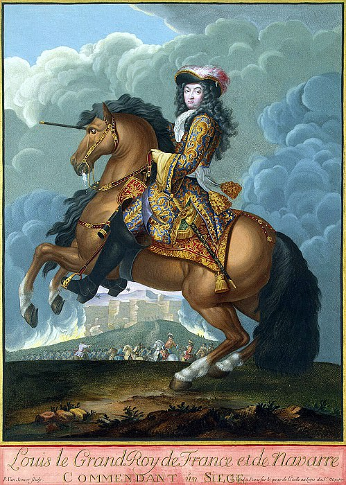 Somer, Paul van Younger. Equestrian portrait of Louis XIV, the commander of. Hermitage ~ part 11