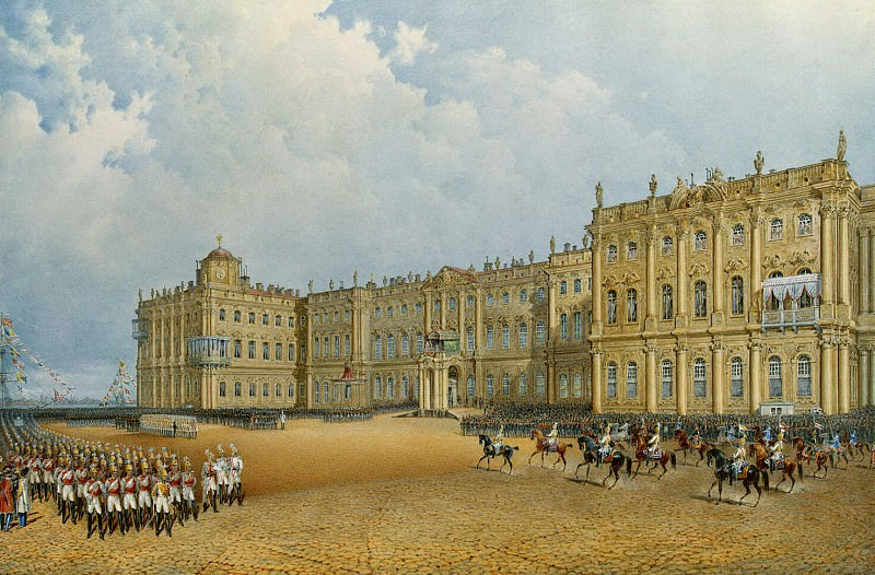 Sadovnikov, Vasily. View of the Winter Palace from the Admiralty. Hermitage ~ part 11