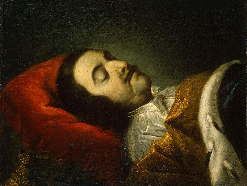 Tannauer, Johann Gottfried. Portrait of Peter I on her deathbed. Hermitage ~ part 11