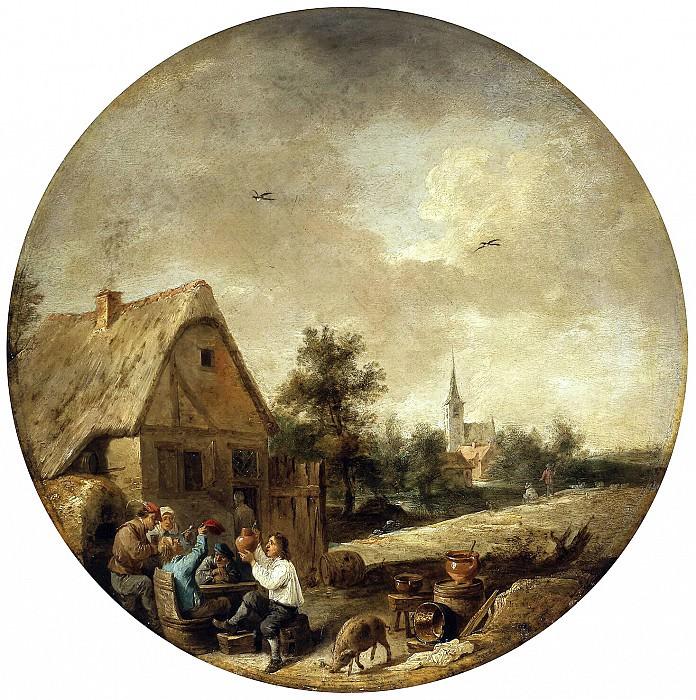 Teniers, David the Younger. Landscape with a village pub. Hermitage ~ part 11