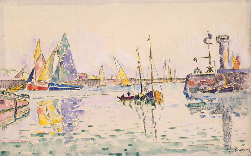 Signac, Paul. Sailboats in the harbor Sables d Ohlone. Hermitage ~ part 11