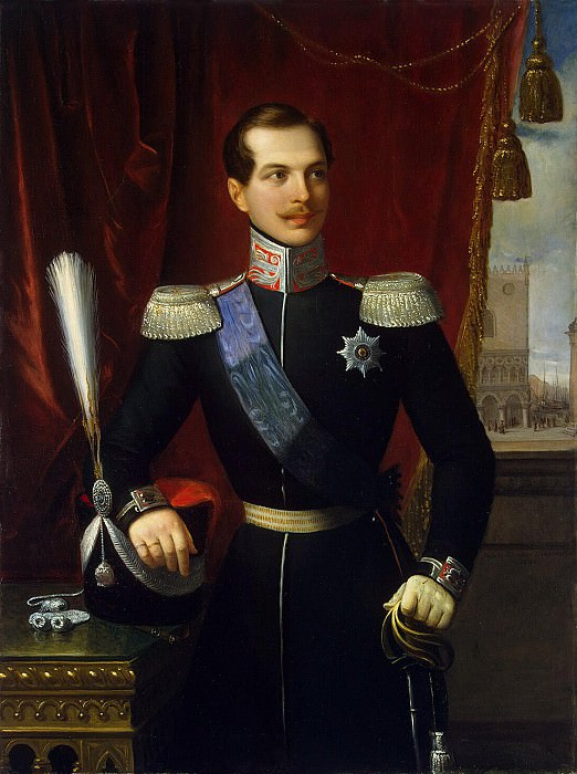 Schiavone, Natale. Portrait of Grand Duke Alexander Nikolaevich. Hermitage ~ part 11