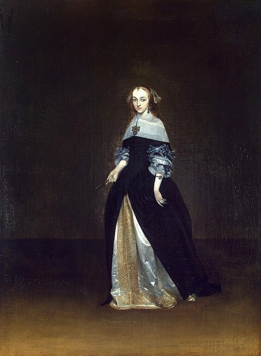 Terborch, Gerard. Portrait of Catarina van Leynink. Hermitage ~ part 11
