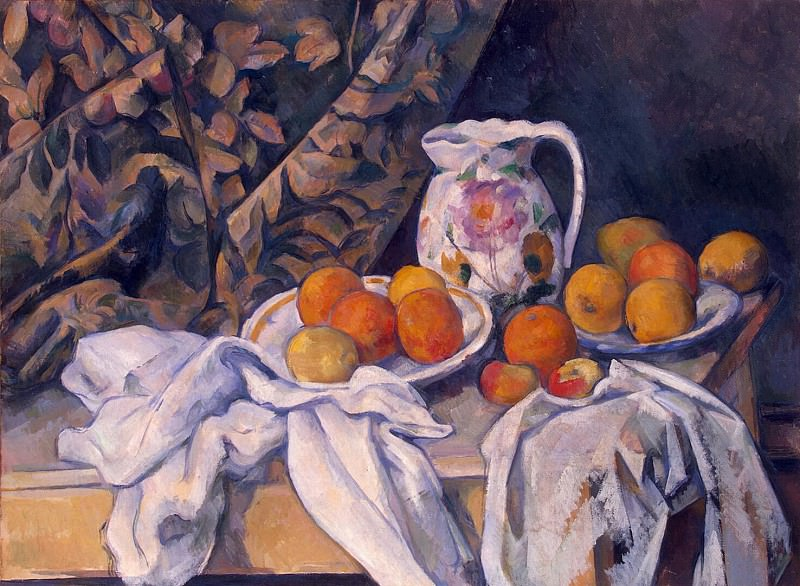 Cezanne, Paul. Still Life with Drapery. Hermitage ~ part 11