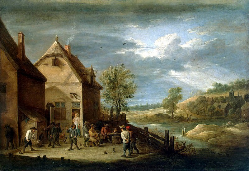 Teniers David Younger. Peasants, bowling. Hermitage ~ part 11