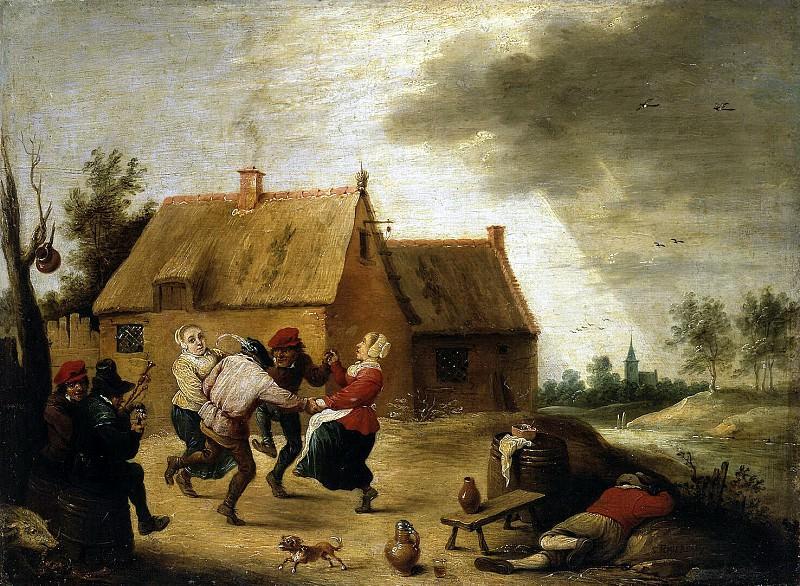 Teniers, Abraham. Peasant Dance. Hermitage ~ part 11