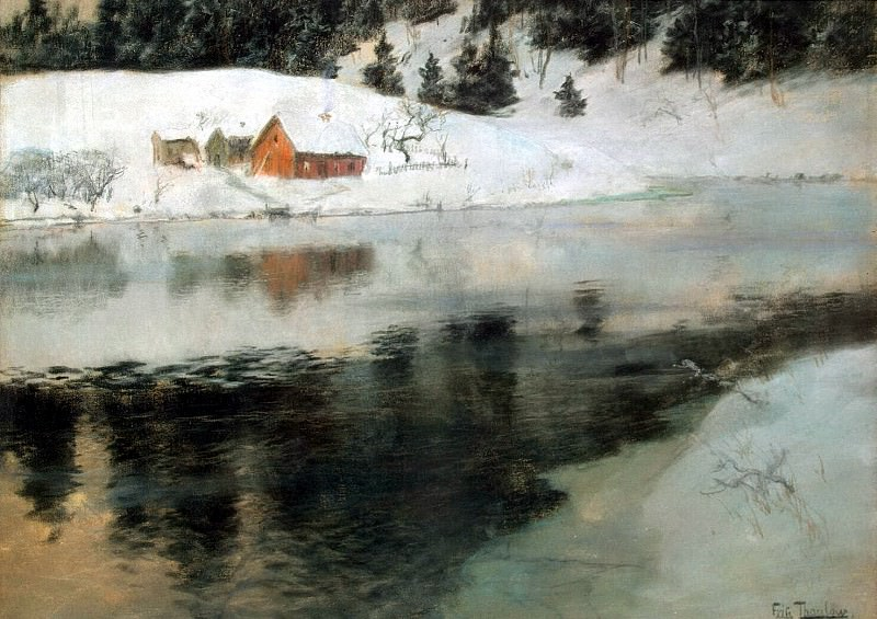 Tauli, Frits. Winter landscape. Hermitage ~ part 11
