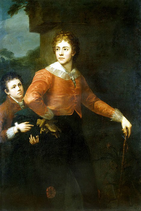 Sanders, George. Two young men in a landscape. Hermitage ~ part 11