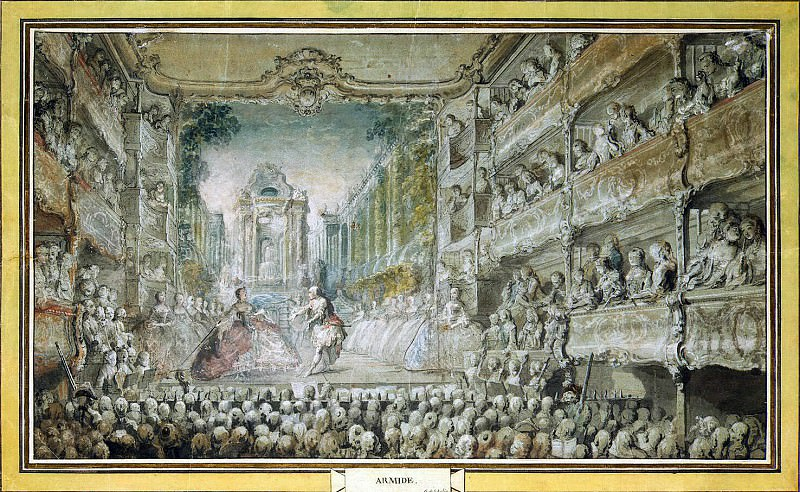 Saint-Aubin, Gabriel de. Submission of Armida in the old hall of the opera. Hermitage ~ part 11