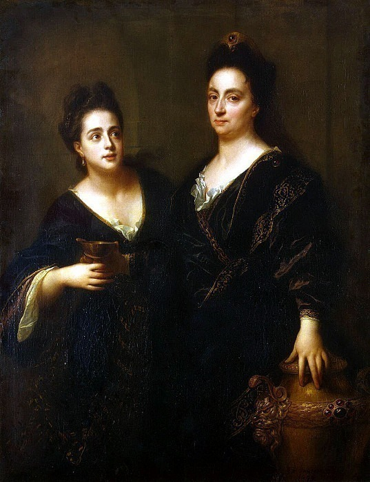Santerre, Jean-Baptiste. Portrait of two actresses. Hermitage ~ part 11