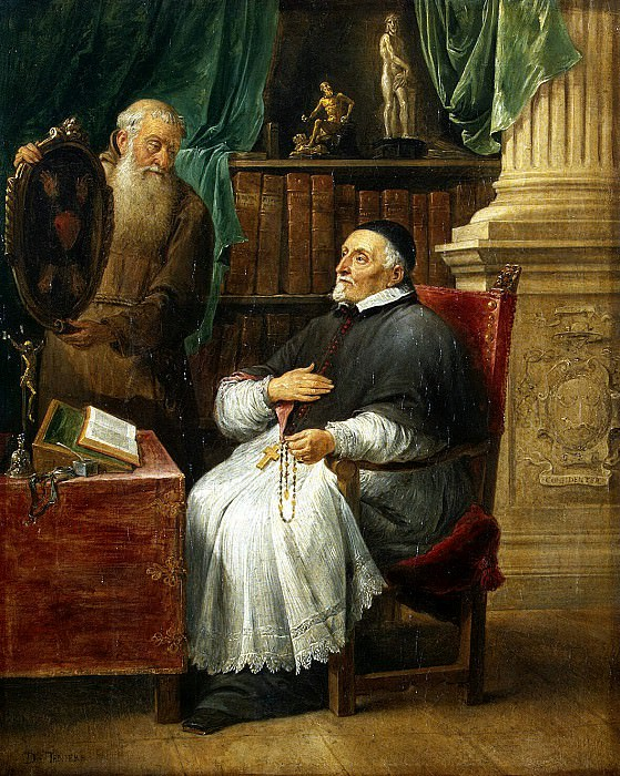 Teniers, David the Younger. Portrait of Ghent, Bishop Anthony Trista and his brother. Capuchin Friars Eugene. Hermitage ~ part 11