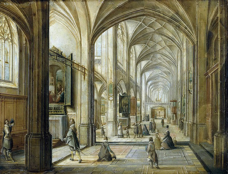 Stenveyk, Hendrik van the Younger. Interior of a Gothic church (2). Hermitage ~ part 11