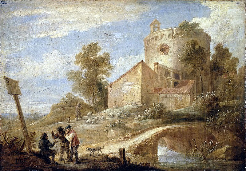 Teniers, David the Younger. Landscape with a Tower. Hermitage ~ part 11