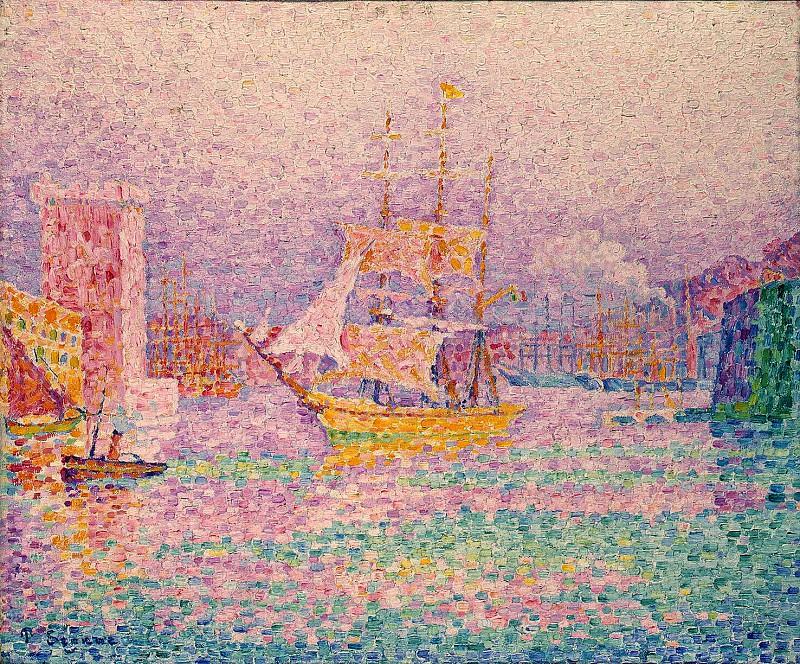 Signac, Paul. Harbour in Marseilles. Hermitage ~ part 11