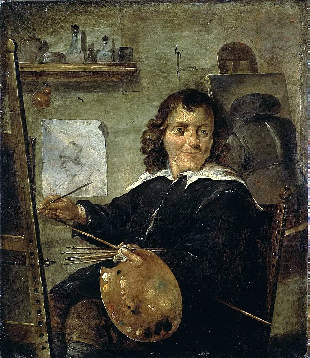 Teniers, David the Younger. A painter in his studio. Hermitage ~ part 11