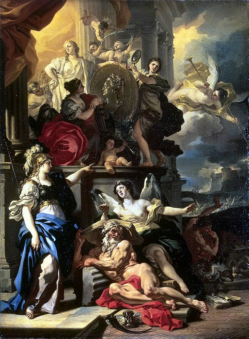 Solimena, Francesco. Allegory of the reign. Hermitage ~ part 11