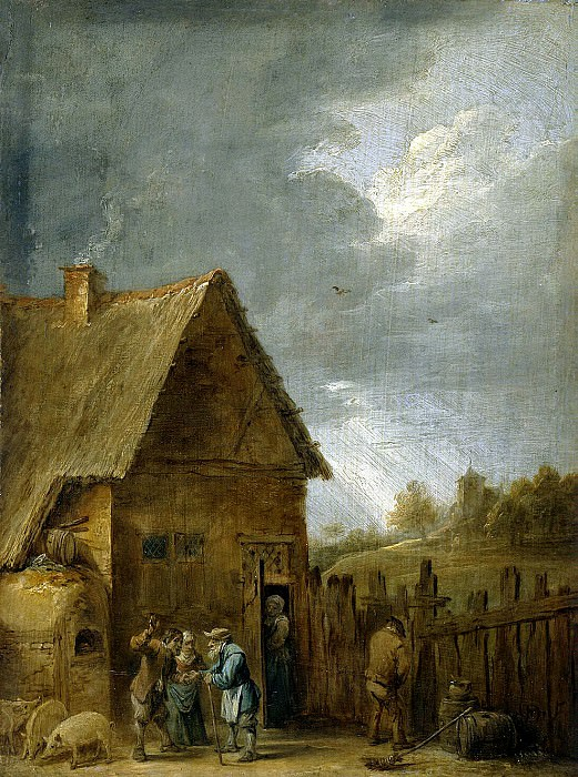 Teniers, David the Younger. Yard peasant houses. Hermitage ~ part 11