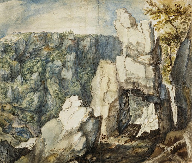 Savery, Rolante. Mountain landscape. Hermitage ~ part 11