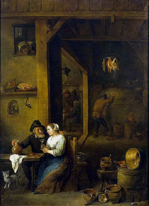 Teniers, David the Younger. The scene in the pub. Hermitage ~ part 11