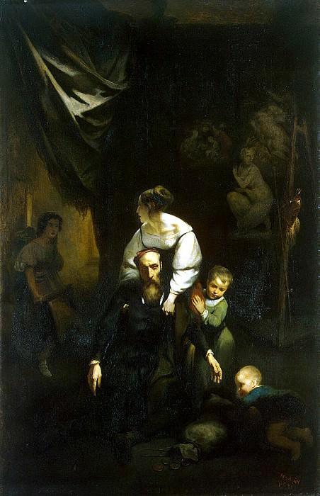 Tassar, Nicolas François Octave. Death of Correggio. Hermitage ~ part 11