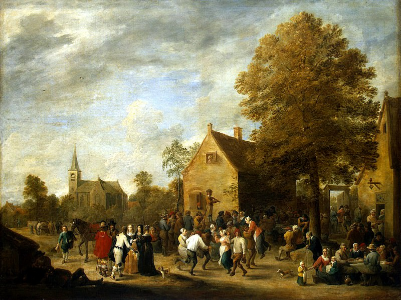 Teniers David Younger. Village Festival. Hermitage ~ part 11