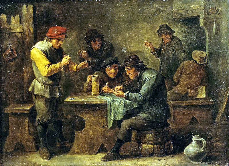 Teniers, David the Younger. Peasants Playing Dice. Hermitage ~ part 11