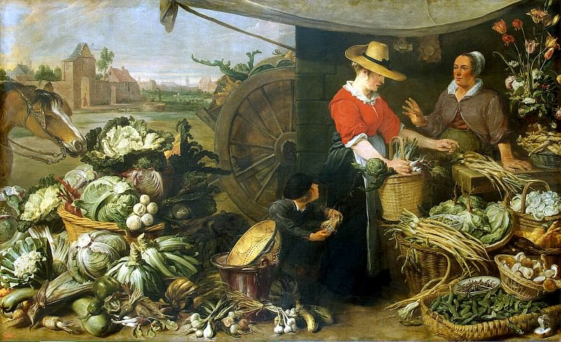 Snyders, Frans. Vegetable shop. Hermitage ~ part 11