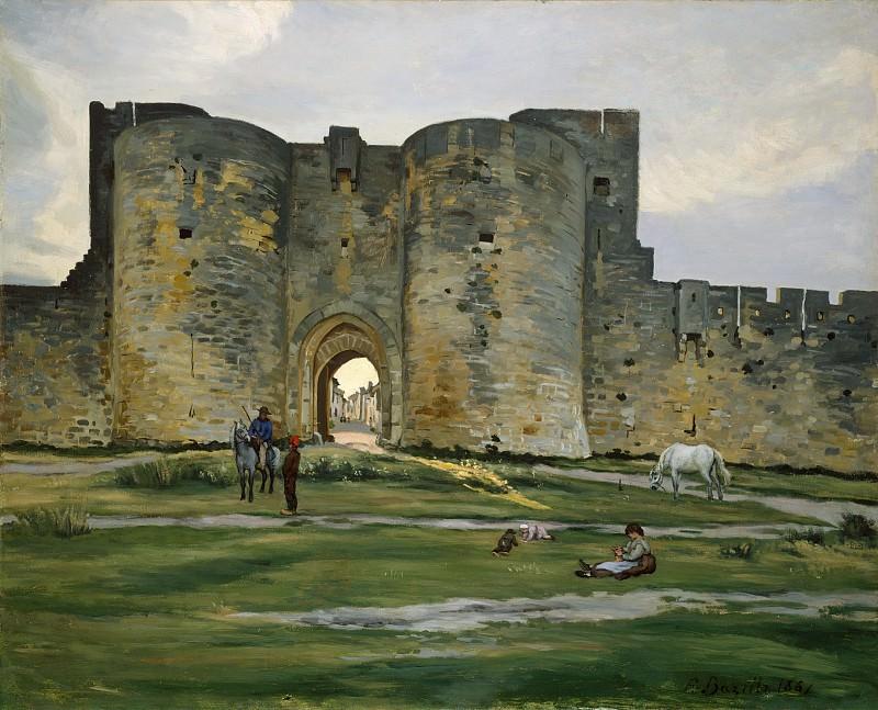 Jean-Frédéric Bazille - Porte de la Reine at Aigues-Mortes. Metropolitan Museum: part 3