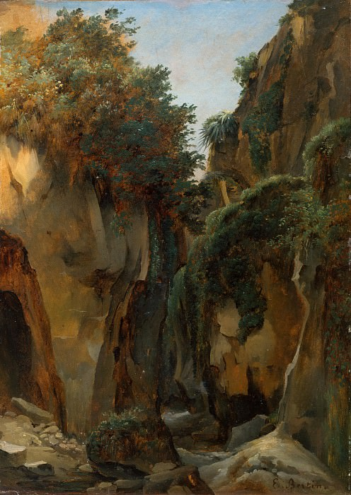 Édouard Bertin - Ravine at Sorrento. Metropolitan Museum: part 3