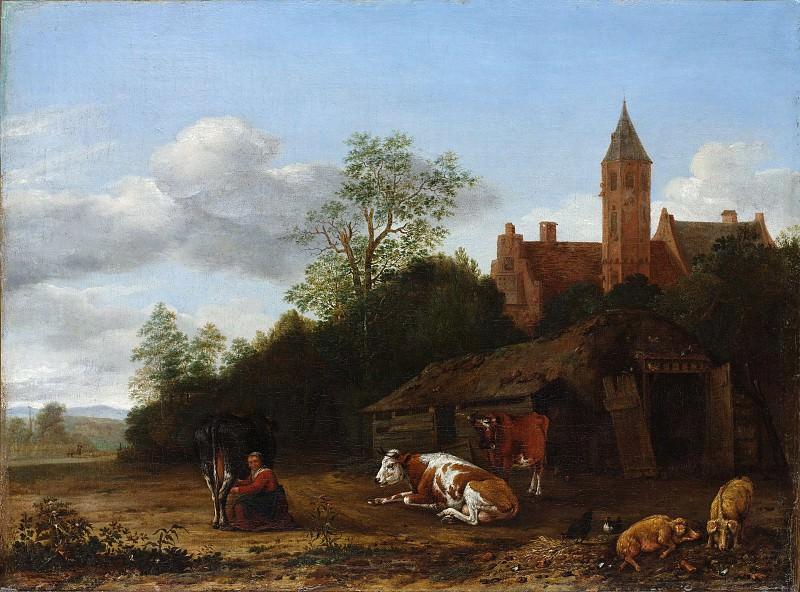 Anthonie van Borssom - Barnyard Scene. Metropolitan Museum: part 3