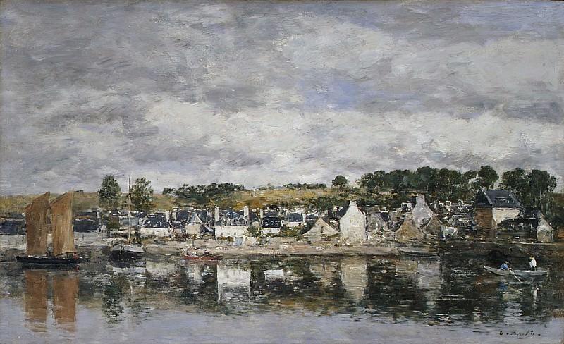 Eugène Boudin - Village by a River. Metropolitan Museum: part 3