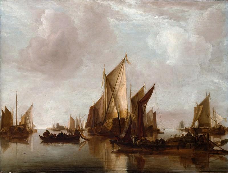 Ян ван де Каппель - Положение яхт и других судов в спокойной воде. Музей Метрополитен: часть 3