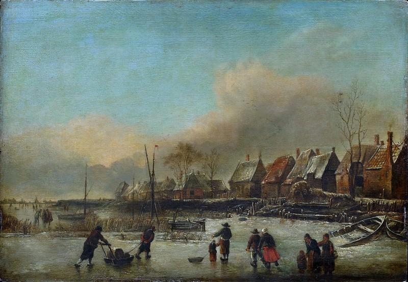 Style of Jan van de Cappelle - Winter Scene. Metropolitan Museum: part 3