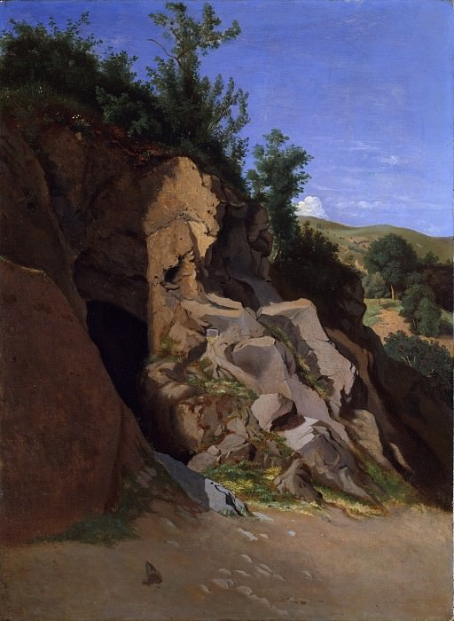 Теодор Каруэль д'Алиньи - Пейзаж с пещерой. Музей Метрополитен: часть 3
