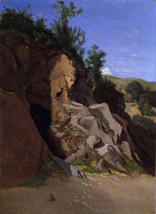 Théodore Caruelle d'Aligny - Landscape with a Cave. Metropolitan Museum: part 3