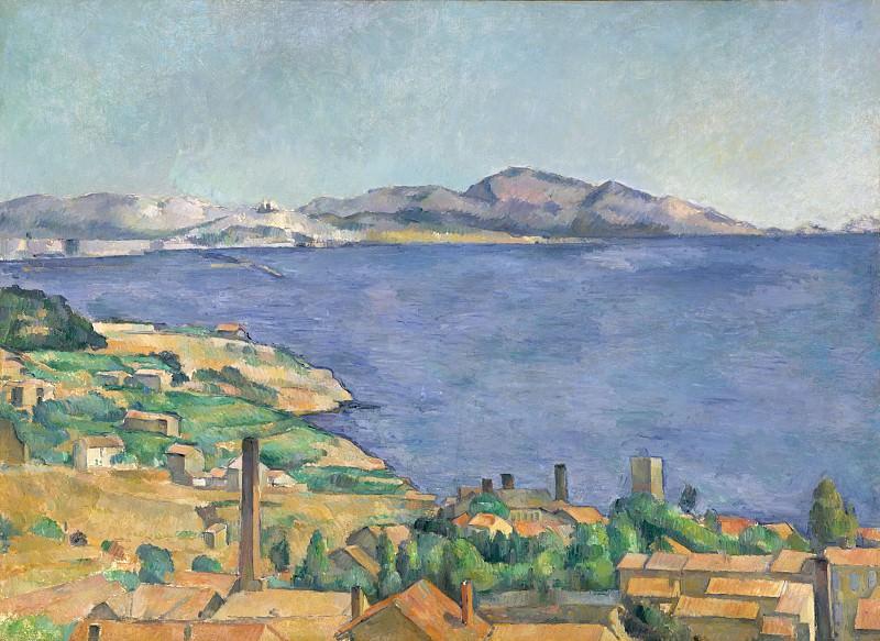 Paul Cézanne - The Gulf of Marseilles Seen from L'Estaque. Metropolitan Museum: part 3