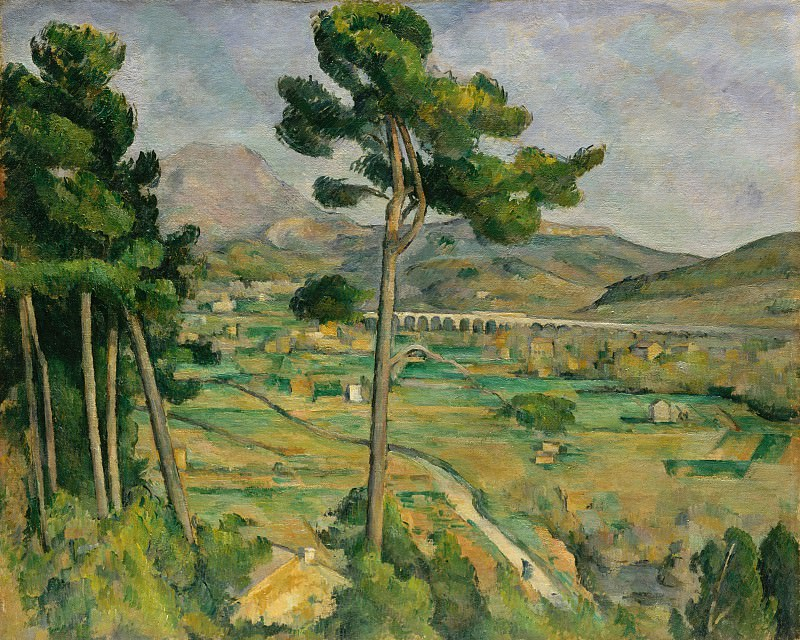 Paul Cézanne - Mont Sainte-Victoire and the Viaduct of the Arc River Valley. Metropolitan Museum: part 3