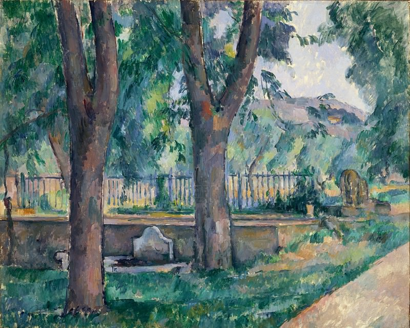 Paul Cézanne - The Pool at the Jas de Bouffan. Metropolitan Museum: part 3