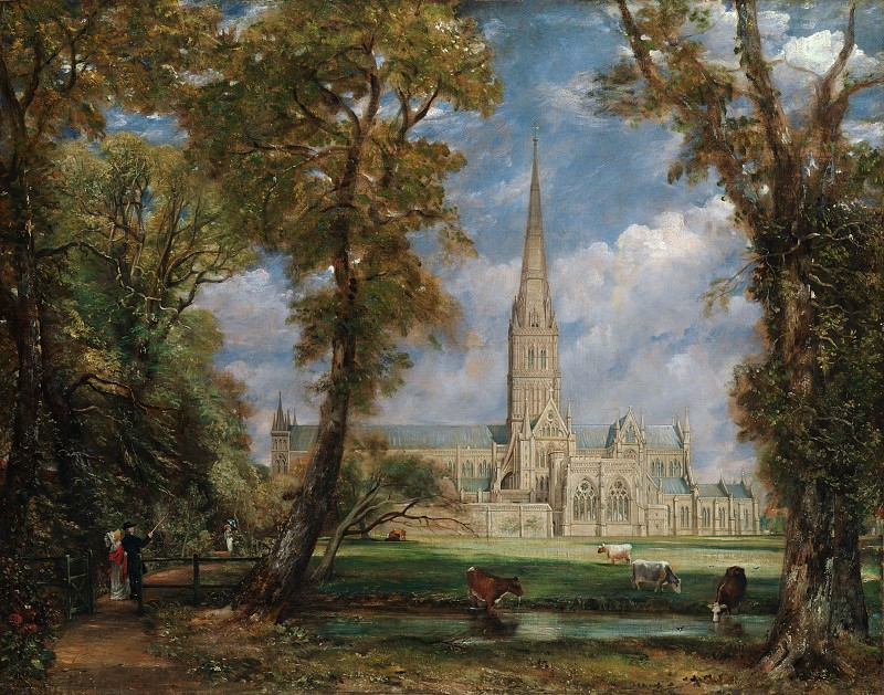 John Constable - Salisbury Cathedral from the Bishop's Grounds. Metropolitan Museum: part 3