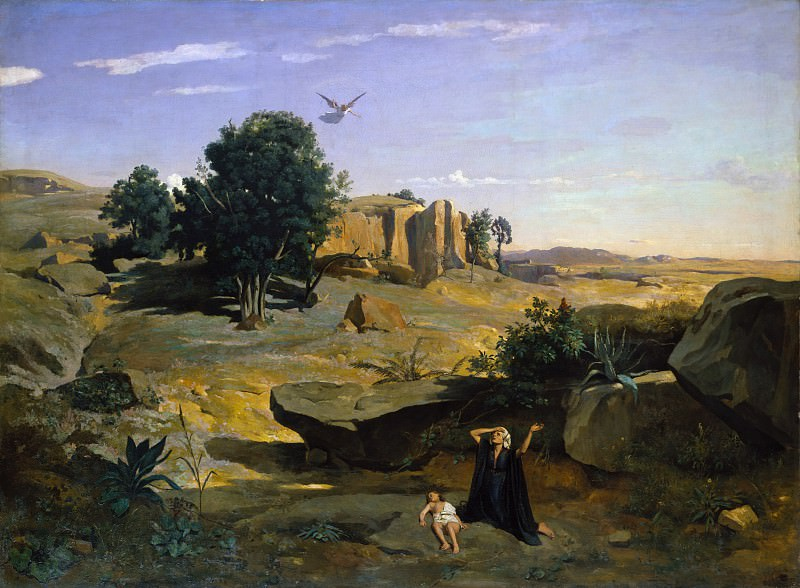 Camille Corot - Hagar in the Wilderness. Metropolitan Museum: part 3