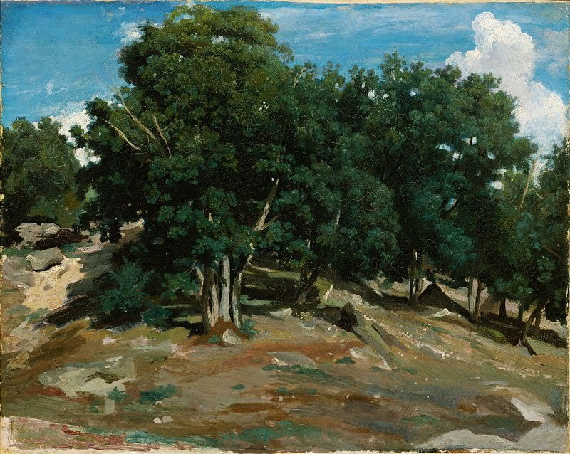 Camille Corot - Fontainebleau: Oak Trees at Bas-Bréau. Metropolitan Museum: part 3