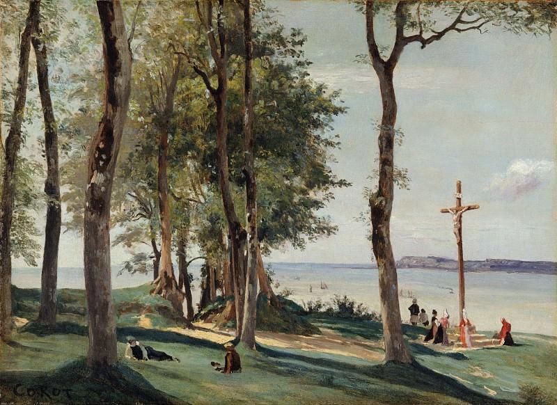 Camille Corot - Honfleur: Calvary. Metropolitan Museum: part 3