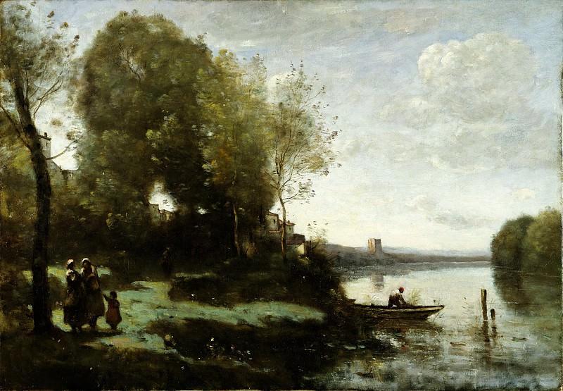Камиль Коро - Река с дальней башней. Музей Метрополитен: часть 3