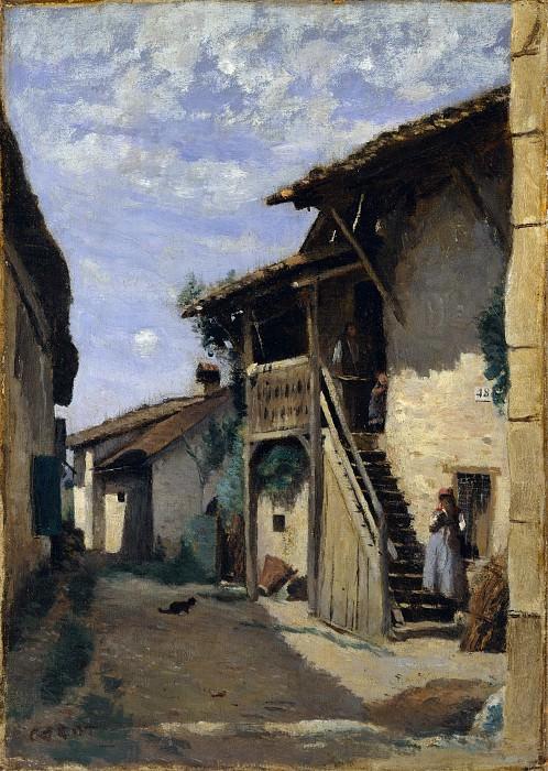 Camille Corot - A Village Street: Dardagny. Metropolitan Museum: part 3
