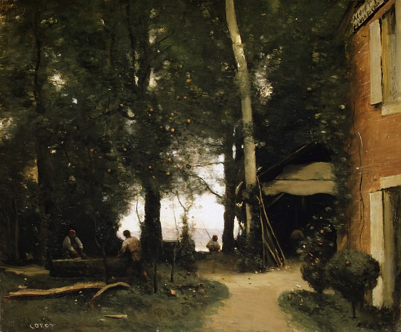 Camille Corot - The Banks of the Seine at Conflans. Metropolitan Museum: part 3