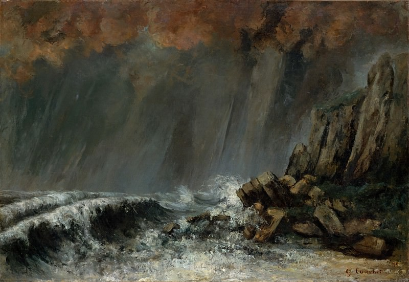 Gustave Courbet - Marine: The Waterspout. Metropolitan Museum: part 3