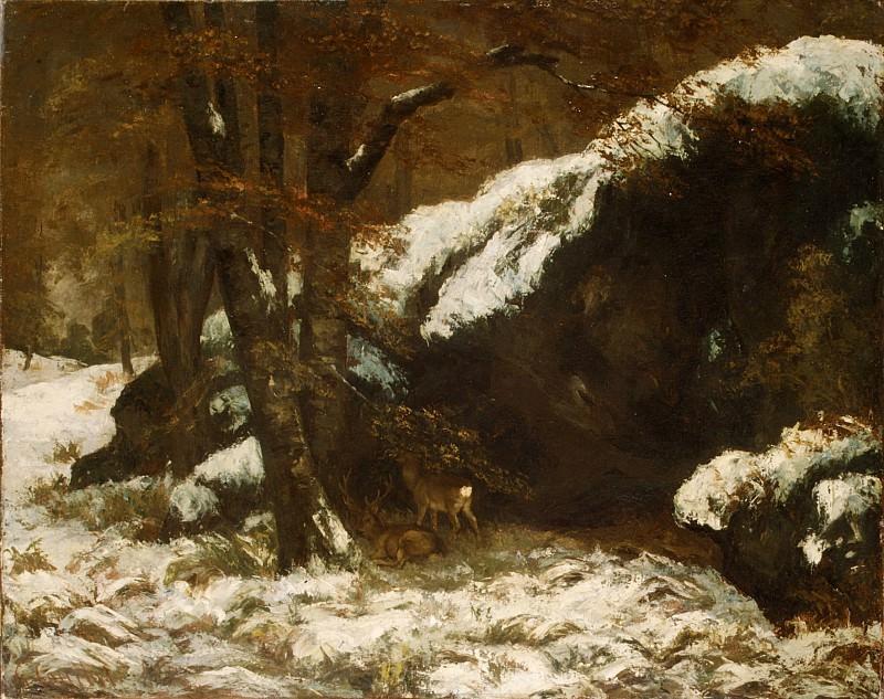 Gustave Courbet - The Deer. Metropolitan Museum: part 3
