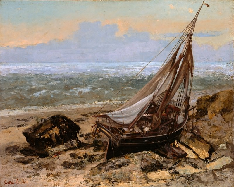 Gustave Courbet - The Fishing Boat. Metropolitan Museum: part 3