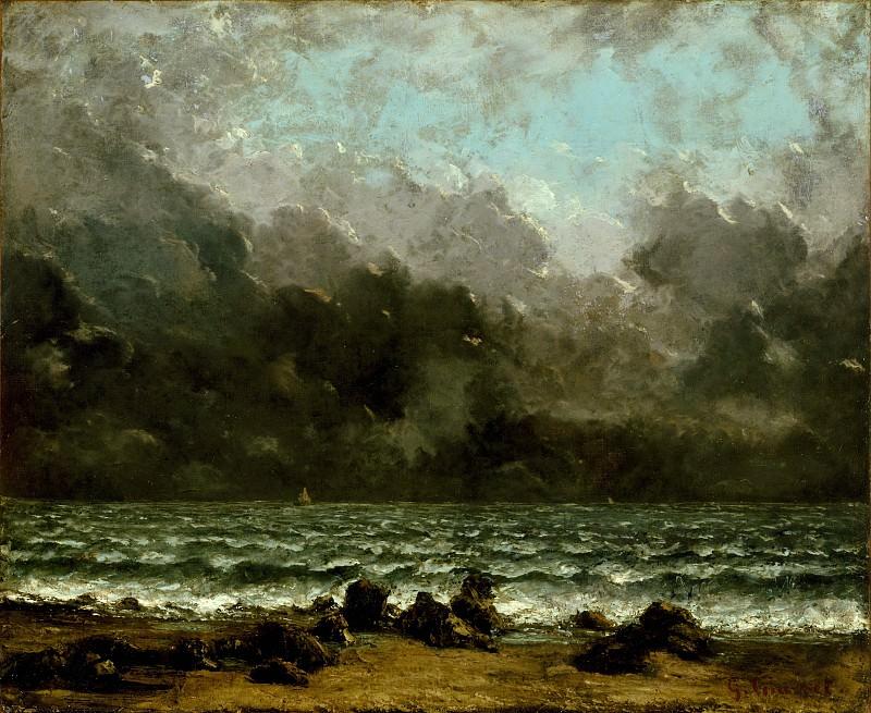Gustave Courbet - The Sea. Metropolitan Museum: part 3