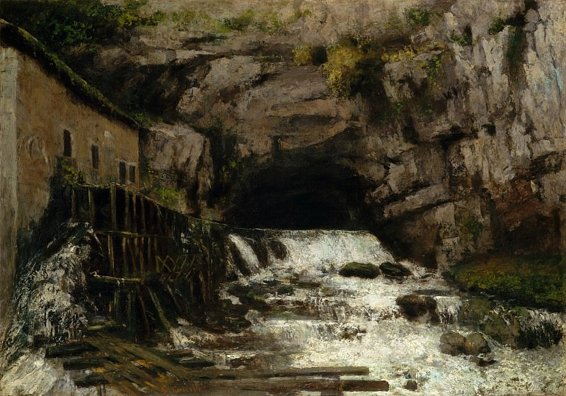 Gustave Courbet - The Source of the Loue. Metropolitan Museum: part 3
